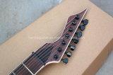 Musique de Hanhai/guitare électrique rouge-brun avec 7 chaînes de caractères