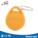identificação personalizada proximidade Crad Keychain do PVC RFID de 125kHz T5577