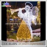 Licht van het Motief van de Engel van nieuwe Lichte LEIDENE van de Vakantie van het Ontwerp Kerstmis van de Decoratie het Kunstmatige Openlucht