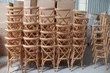 الصين [منوفكرورر] حديقة فناء خشبيّة صليب ظهر [رتّن] حصيرة يتعشّى كرسي تثبيت