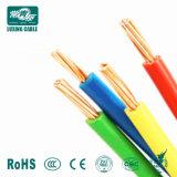 Fio de cabo com isolamento de PVC elétrica