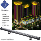 IP65 impermeabile 18*1W RGB LED Wall Washer Light Bar