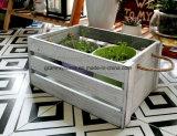País Vintage chic decoración estilo rústico angustiados cajas de madera de almacenamiento perfecto para bodas Jardinería