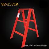 De plastic-bespoten Dubbele Vouwende Ladder van de Stap van het Aluminium