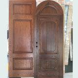 Rotondo-Parte superiore solida del portello interno di legno di quercia rossa di disegno americano progettata