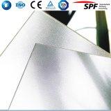 Vidro rolado Tempered modelado revestido para o painel solar