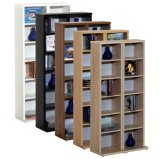Biblioteca moderna Escola de madeira de estante de gabinete do monitor