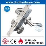 単一の火の評価されるフラッシュ・ドアのためのハードウェアのドアロックの固体ハンドル