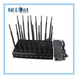 Антенны наивысшей мощности 16 регулируемые весь мобильный телефон 3G 4G сигнализируют Jammer блокатора сигнала UHF Lojack RF VHF WiFi GPS Jammer