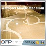 대리석 물 분출 큰 메달 로비 실내 마루를 위한 자연적인 돌 모자이크 패턴