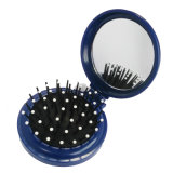 Spazzola di capelli piegante con lo specchio, il pettine pieghevole di plastica di corsa, il pettine promozionale del regalo e lo specchio