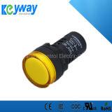 22mm 22DS Hot Sale corps court signal couleur jaune de lumière/voyant à LED Lampe