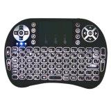 I8 Air Mouse com teclado sem fio de 2,4 GHz com retroiluminação
