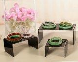 Canalisations verticales acryliques d'étalage de lucite noire de plexiglass