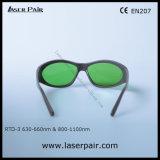 635nm, 808nm, protección Eyewear de /Laser de las gafas de seguridad de laser 980nm para el rojo y los lasers del diodo (RTD-3 630-660nm y 800-1100nm) con el marco gris 55