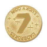 Pièce d'or faite sur commande de côté de double en métal avec le nombre chanceux (XD-0706-12)