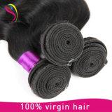 熱い販売光沢のあるブラジルボディ波の人間の毛髪の織り方