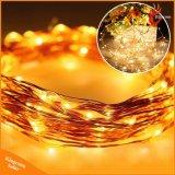 Weihnachtsbaum-Dekoration-Licht des bunten kupfernen der Zeichenkette-100LED Solarlicht-im Freien LED für Garten-Landschaftsfestival