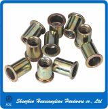Noix galvanisée de rivet de bruit de tête du produit plat M3/M4/M5/M6/M8