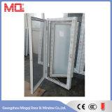 Abrir hacia fuera la ventana triple del marco del PVC de los 3 paneles