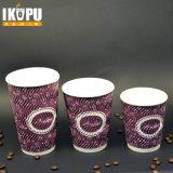 Uso de la taza de la ondulación para la taza de papel de la ondulación vertical disponible caliente de la taza 12oz de Dispossable de la bebida