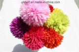 結婚披露宴の装飾の絹の花の球は絹POM Pomsを卸し売りする