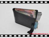 Тонкий бумажник владельца карточки зажима деньг людей бумажника