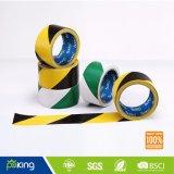 48mm*30m schwarzes gelbes Vorsicht-Band - Belüftung-Fußboden-Markierungs-Band