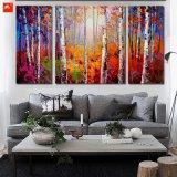 Esbelto árbol de abedul Bosques Wall pintura de arte