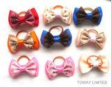 Design mignon Pet Bowtie Cheveux Bande élastique chien accessoires colorés