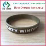 Stampa impressa su ordine, braccialetto del silicone della cupola della foto/fascia della mano