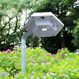 Lumière extérieure de nuit de pelouse de détecteur du panneau solaire DEL d'éclairage