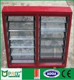 Europäische Art-Aluminiumluftschlitz-Fenster mit ausgeglichenem Glas