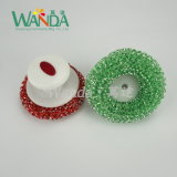 Размыватель сетки чистки цветастой кухни пластичный с ручкой