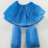 Anti-Skid PE desechables Cubrezapatos con material impermeable
