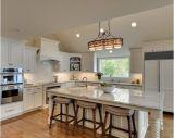 Gabinete de cozinha de madeira pintada a quente com melhor senso