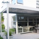 Im Freiengarten-elektrischer Aluminiumsonnenschutz-MarkiseGazeboPergola mit funktioneller Schaufel