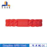 Vario Wristband rosso del silicone dei chip RFID per il bagno dei centri