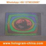 Identification transparente de film d'hologramme de laser de la garantie 3D