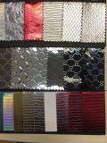 Couro metálico do plutônio do estilo elegante bonito para sapatas, sacos, vestuário, decoração (HS-Y38)
