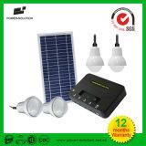 Batería de litio de 4 lámparas de iluminación solar Kits para las zonas rurales