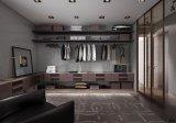 PVCボードの木製の寝室の戸棚の布のワードローブ