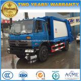 Dongfeng 10m3에 의하여 압축되는 패물 트럭 10 톤 쓰레기 압축 분쇄기 쓰레기 트럭