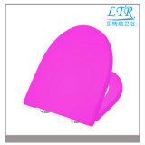 Kundenspezifische Funkeln-Familie gefärbt ringsum Weiche-Abschluss-Toiletten-Sitz