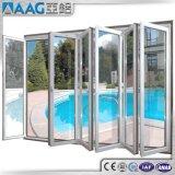Двери алюминия/алюминия Australian/USA/EU стандартные Bi-Складывая