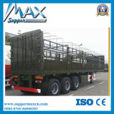 De China del vehículo comercial 3 de los árboles de la cerca acoplado semi