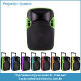 Altavoz al aire libre portable de la proyección del sistema plástico LED del PA con la batería