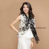 Impression d'écharpe en soie pour Ladys