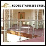 Trilhos de vidro do balcão do aço inoxidável, trilhos de vidro da escada