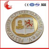 Qualitäts-preiswertes rostfreies Eisen gedrucktes Abzeichen